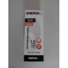 Лампа LED Energio C37  5W 3000K 220V E14