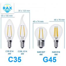 Светодиодная лампа Эдиссона Свеча на ветру, 8Вт, Е14, теплый свет