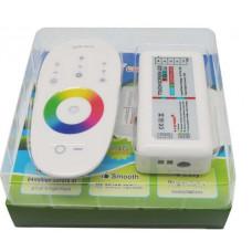 Комплект RGB/RGBW контроллер с беспроводным сенсорным ПУ 6А канал