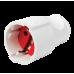 Штепсельная розетка с заземлением, бело-черная (модульная)