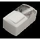 Выключатель с подсветкой + Розетка с заземляющим контактом, с крышкой EL-BI EVA IP54
