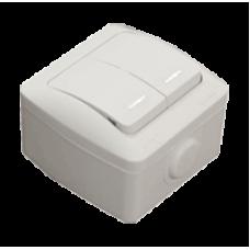 Двойной выключатель с подсветкой EL-BI EVA IP54