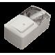 Выключатель проходной с подсветкой + Розетка с заземляющим контактом, с крышкой EL-BI EVA IP54