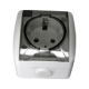 Розетка с заземляющим контактом, с крышкой EL-BI EVA IP54