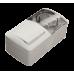 Двойной выключатель с подсветкой + Розетка с заземляющим контактом, с крышкой EL-BI EVA IP54