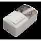 Двойной выключатель проходной + Розетка с заземляющим контактом, с крышкой EL-BI EVA IP54
