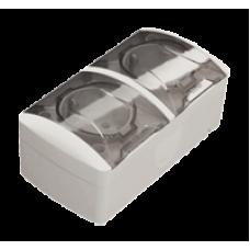Розетка с заземляющим контактом + Розетка с заземляющим контактом, с крышкой EL-BI EVA IP54
