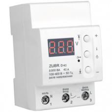 Реле контроля напряжения ZUBR D40se