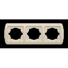 Тройная горизонтальная рамка EL-BI TUNA БЕЖЕВЫЙ