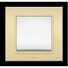 Рамка двойная, ZENA светло-желтый Серия ZENA COLORLINE