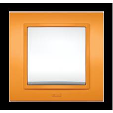 Рамка двойная, ZENA оранжевый Серия ZENA COLORLINE